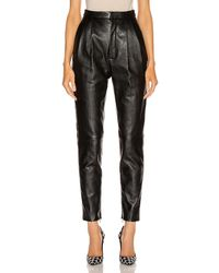 Saint Laurent Leather Pant - Black