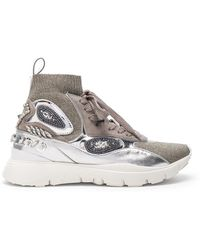 Valentino - Heroes Her Embellished High Top Sneakers - Lyst