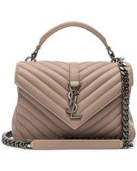 37959fc344b0 Saint Laurent Monogram College Medium Quilted Leather Shoulder Bag ...