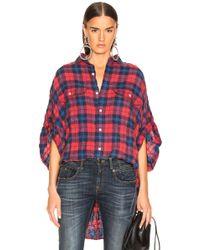 R13 - Plaid Casual Shirt - Lyst