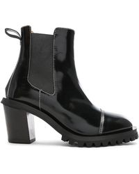 0d88ac9bd1ed Acne Studios - Leather Heeled Boots - Lyst