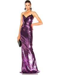 Mugler - Sequin Mermaid Gown In Atomic Pink & Black - Lyst