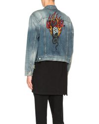 Unravel - Snake Rigid Denim Jacket - Lyst