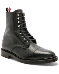 Thom Browne - High Leather Derby Boots - Lyst
