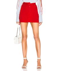 Monse - Reconstructed Denim Mini Skirt - Lyst