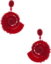 Oscar de la Renta - Beaded Seashell Earrings - Lyst