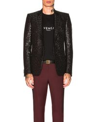Givenchy - Leopard Poly Lurex Jacket - Lyst