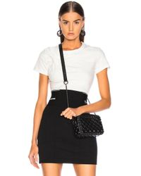 43a92cd27cb252 T By Alexander Wang - Compact Twist Short Sleeve Top In Clay - Lyst