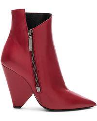 Saint Laurent - Leather Niki Ankle Boots - Lyst