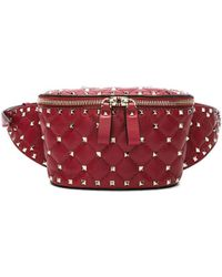 Valentino - Small Quilted Rockstud Spike Belt Bag - Lyst