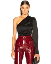 Maggie Marilyn - A Little After Ten One-shoulder Ruched Silk-satin Top - Lyst