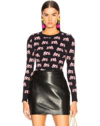 JoosTricot - Bodycon Printed Jacquard Crew Neck Sweater - Lyst