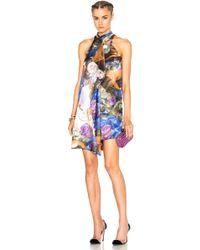 Christopher Kane - Printed Front Drape Dress - Lyst