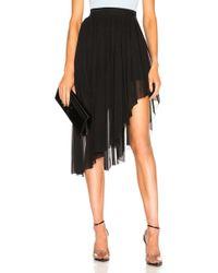 Mugler - Asymmetric Hem Skirt - Lyst