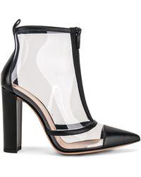 6fcf03ad0107 Lyst - Alexander McQueen Red Plexi Heel Ankle Boot in Black