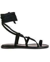 be608edad709 Lyst - Manolo Blahnik Primathi Gladiator Sandals in Brown