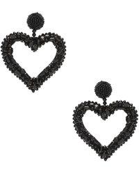 Oscar de la Renta - Jeweled Heart Earrings - Lyst
