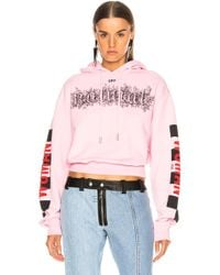 Off-White c/o Virgil Abloh - Taxi Cropped Hoodie - Lyst