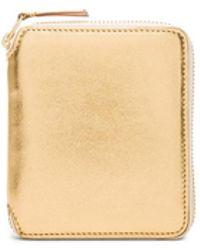 Comme des Garçons - Gold Line Zip Wallet - Lyst