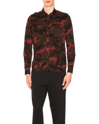 Valentino - Camouflage Shirt With Patches - Lyst