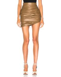 Zeynep Arcay - For Fwrd Draped Mini Leather Skirt - Lyst