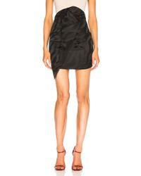 Carmen March - Asymmetric Mini Skirt In Black - Lyst