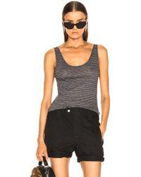 ff9d5509c5 Lyst - Saint Laurent Cotton Bustier Top in Black