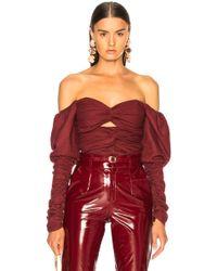 Zeynep Arcay - Plaid Wool Bodysuit - Lyst