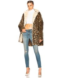 R13 - Leopard Huntington Coat - Lyst