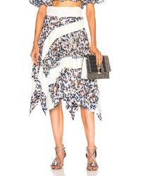 3.1 Phillip Lim - Layered Painted Dot Skirt - Lyst