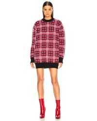 MSGM - Checked Oversized Sweater - Lyst