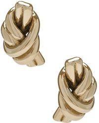 JW Anderson - Metallic Knot Earrings - Lyst