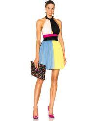 Fausto Puglisi - Colour Block Short Halter Top Tulle Dress - Lyst