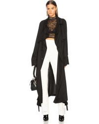 Ann Demeulemeester   Embroidered Trench Coat   Lyst