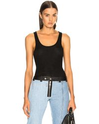 T By Alexander Wang - Woolly Rib Tank Top - Lyst