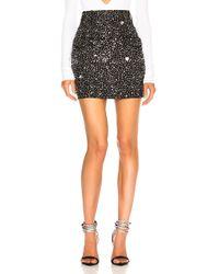 Balmain - Side Pocket Embellished Mini Skirt - Lyst