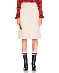 Vetements - Workwear Leather Midi Skirt - Lyst