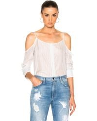 Frankie - Off Shoulder Button Down Top - Lyst