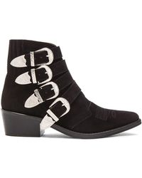 Toga Pulla - Suede Buckled Booties - Lyst