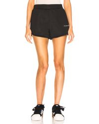 T By Alexander Wang - Printed Coated French Cotton-blend Terry Shorts - Lyst