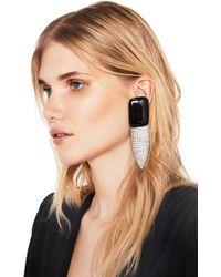 Saint Laurent - Crystal Embellished Earrings - Lyst