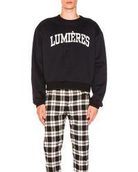 OAMC - Lumieres Sweatshirt In Navy - Lyst