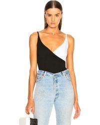 Enza Costa - Strappy Overlap Bodysuit - Lyst