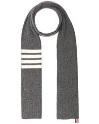 Thom Browne - Cashmere Ribbed Bar Stripe Scarf - Lyst