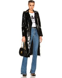 Zeynep Arcay - Patent Leather Trench Coat - Lyst