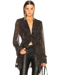 Ann Demeulemeester - Pinstriped Sheer Sleeve Coat - Lyst