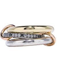 Spinelli Kilcollin - Libra Ring In 18k Yellow Gold & Silver - Lyst