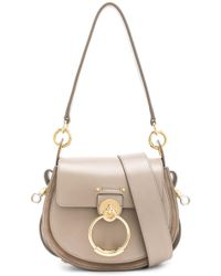 f9a12be331 Chloé Medium Tess Printed Watersnake Shoulder Bag in Brown - Lyst