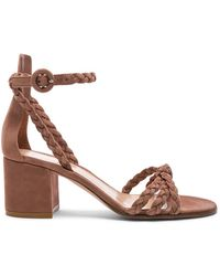 Gianvito Rossi - Braided Suede Liya Sandals - Lyst