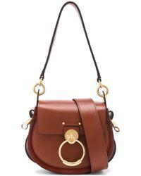 eed0fec9ed3da Lyst - Chloé Roy Small Snake Effect Leather Shoulder Bag in Brown